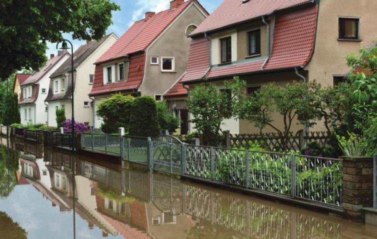 Das Eigenheim vor Wassermassen schützen