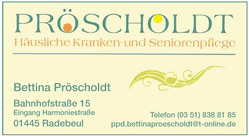 Bettina Pröscholdt Häuslichepflege