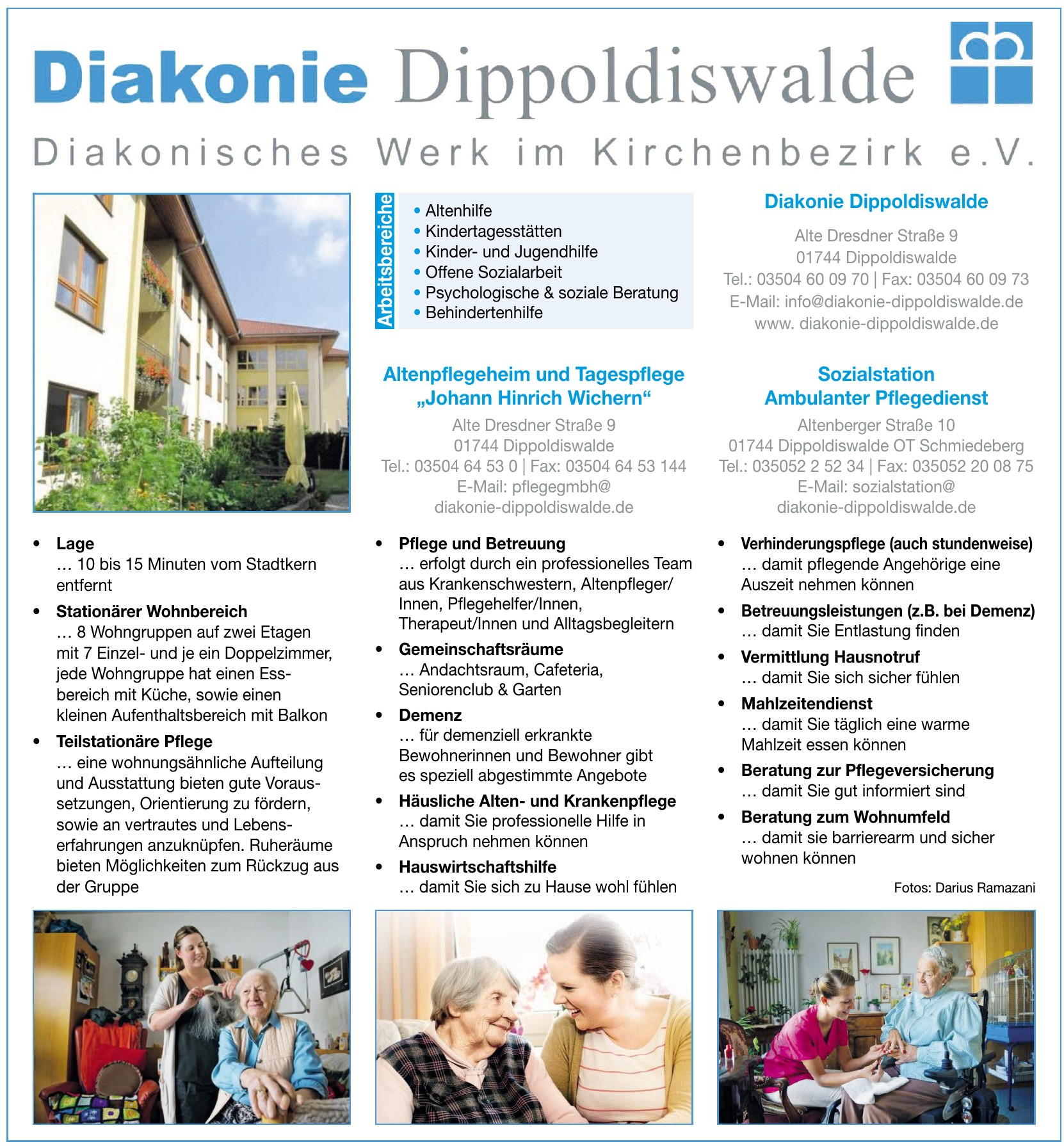 Diakonie Dippoldiswalde Diakonisches Werk im Kirchenbezirk e. V.