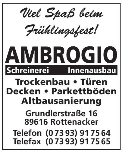 Ambrogio Schrenerei Innenausbau