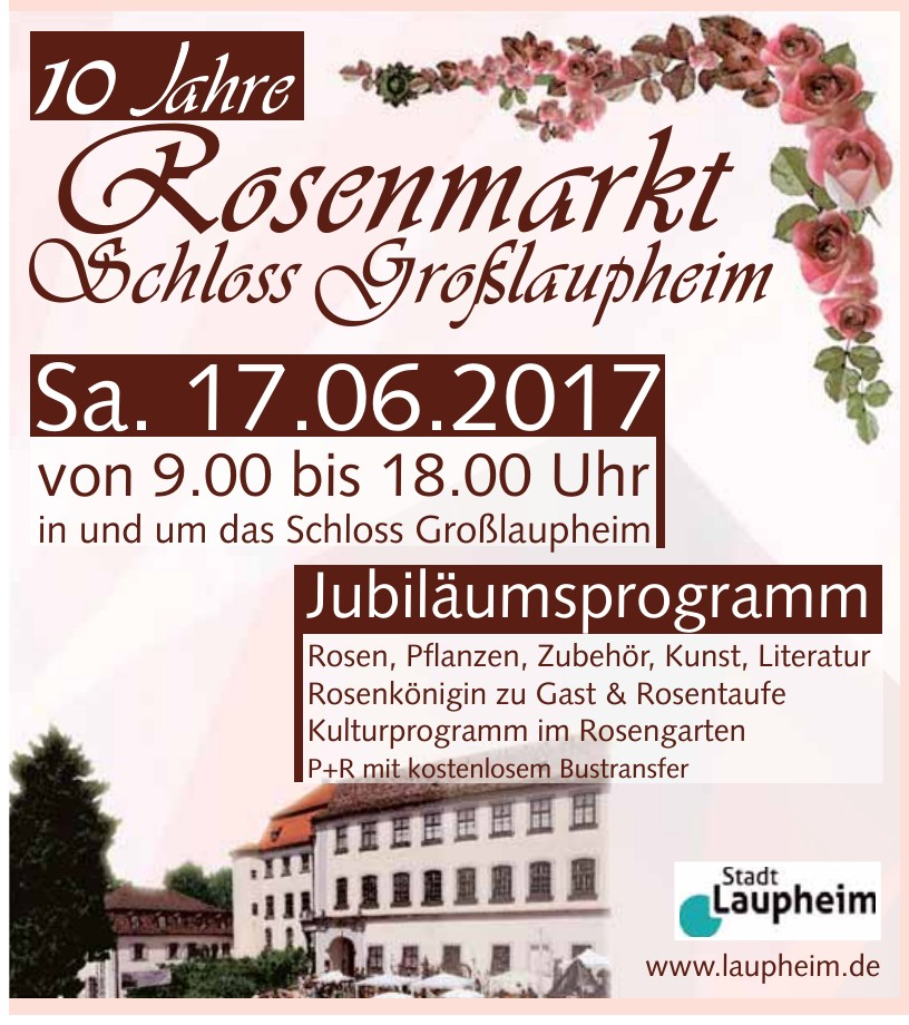 10 Jahre Rossenmarkt Schloss Großlaupheim