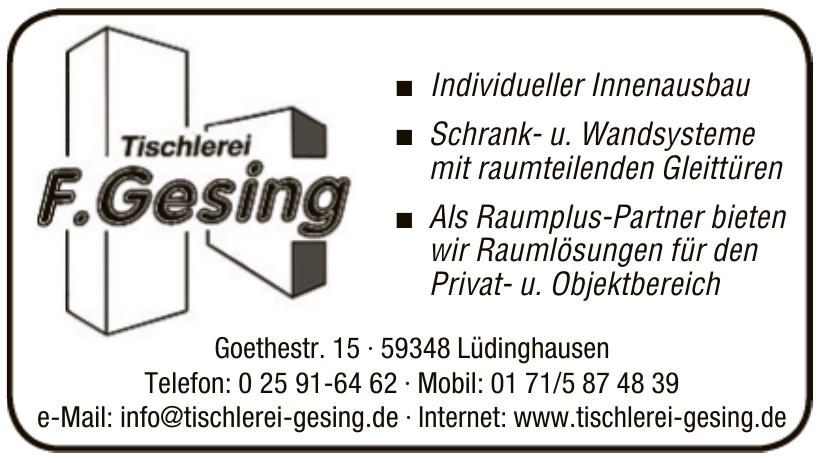Tischlerei F. Gesing