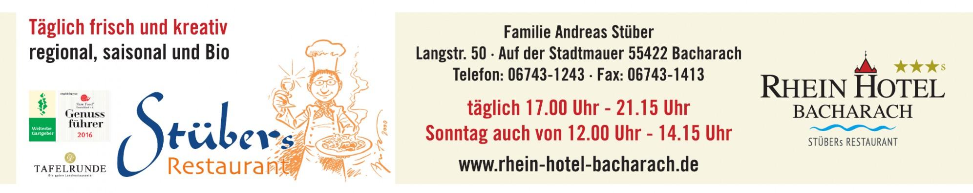 Rhein-Hotel Bacharach, Stübers Restaurant