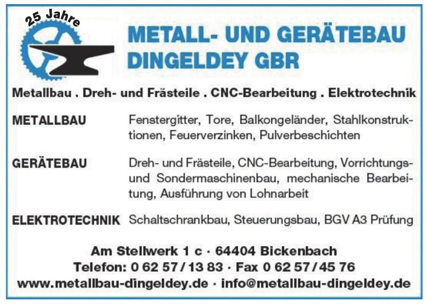 Mettal- und Gerätebau Dingeldey GbR