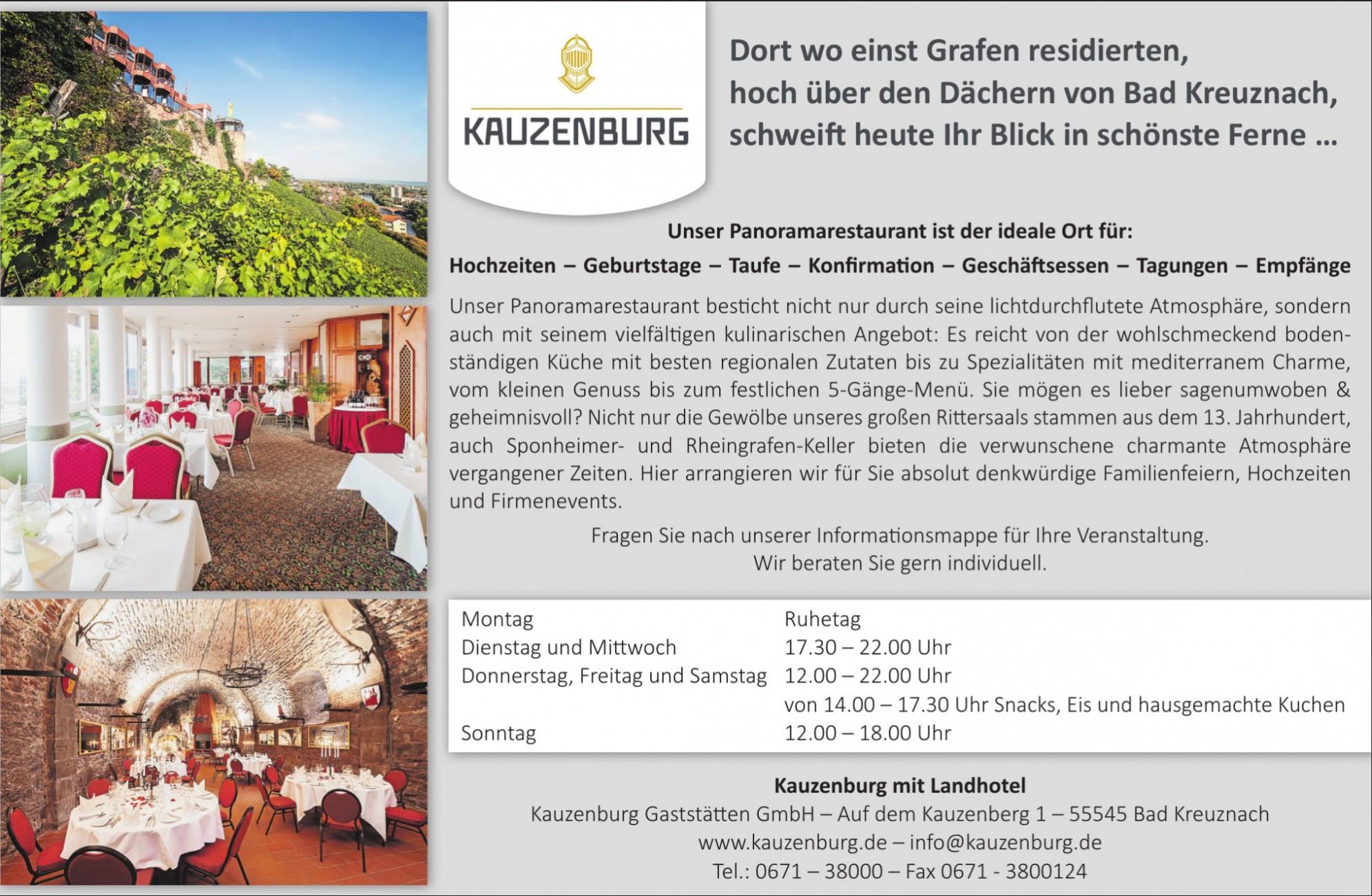 Kauzenburg Gaststätten GmbH