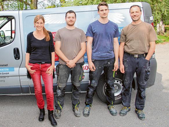 Ein eingespieltes Team – auf dem Bild sind zu sehen (von links): Ruth du Hommet, Lukas John, Theo du Hommet und Martin Zanker. Fotos: Armin Schmid (2); Zanker & du Hommet (1)