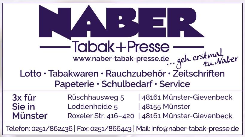 Naber Tabak + Presse