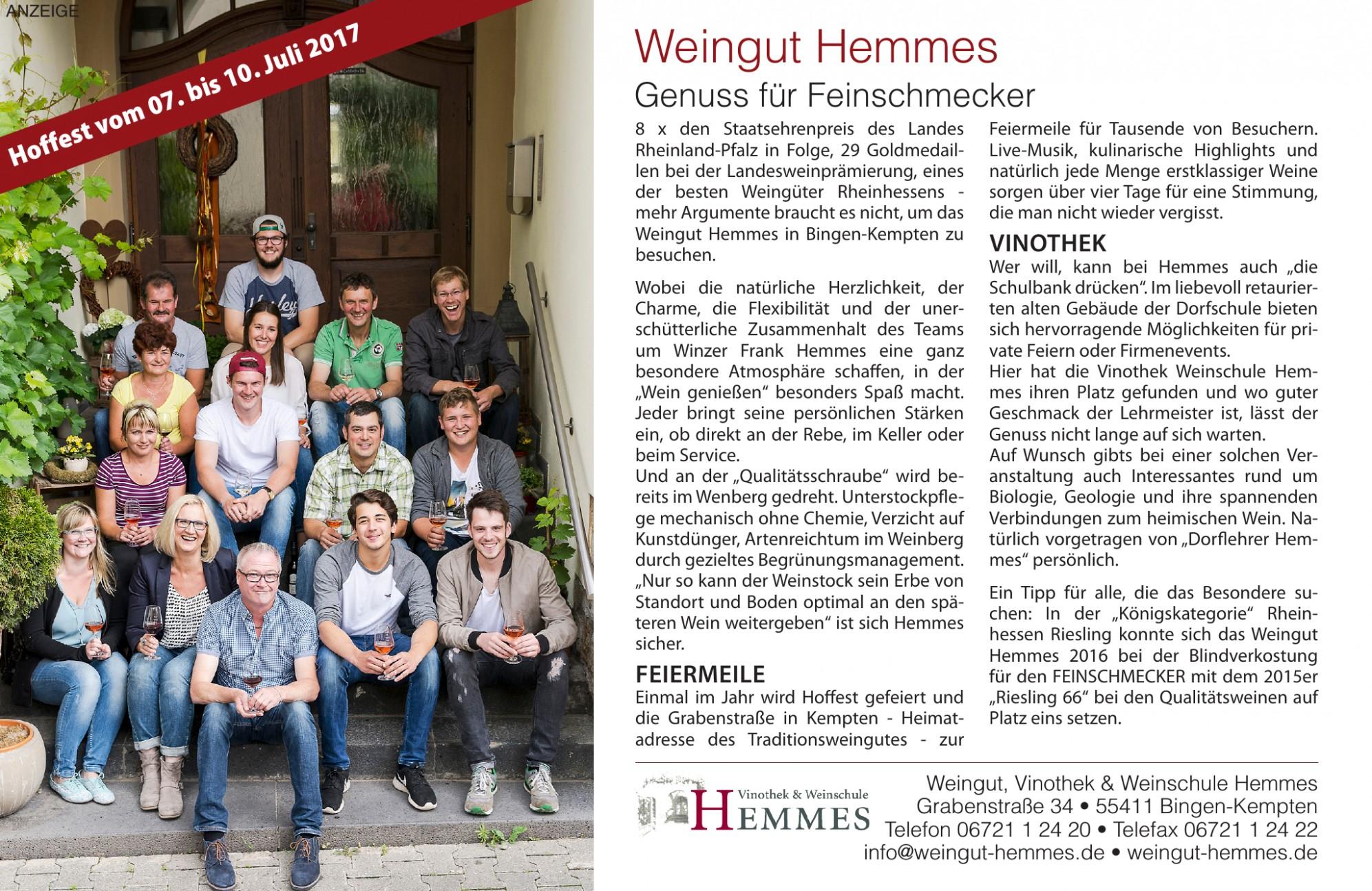Weingut, Vinothek & Weinschule Hemmes
