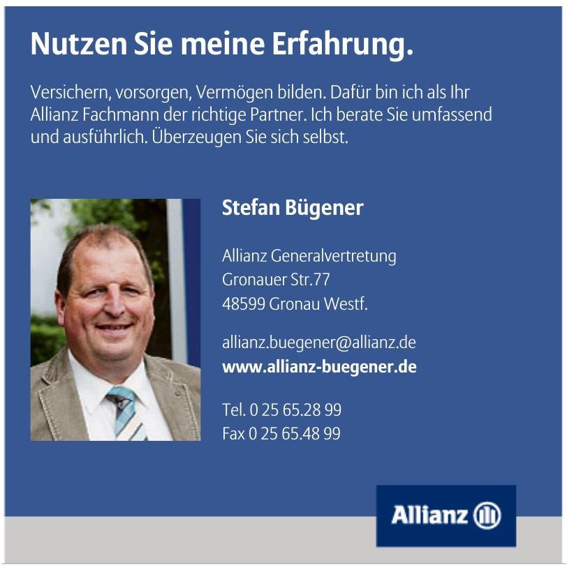 Stefan Bügener Allianz Generalvertretung