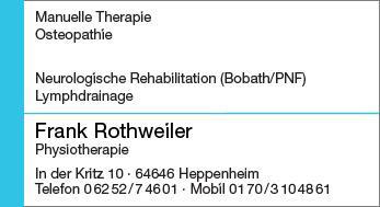 Physiotherapie Frank Rothweiler