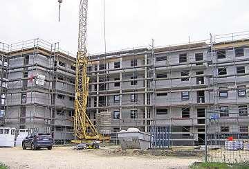 Zu den aktuellen Bauvorhaben des Unternehmens Dreßler & Mehlhose gehört auch der Bau des Mehrfamilienwohnhauses an der Roesgerstraße in Bautzen. Foto: Grit Bührdel-Schmiedel