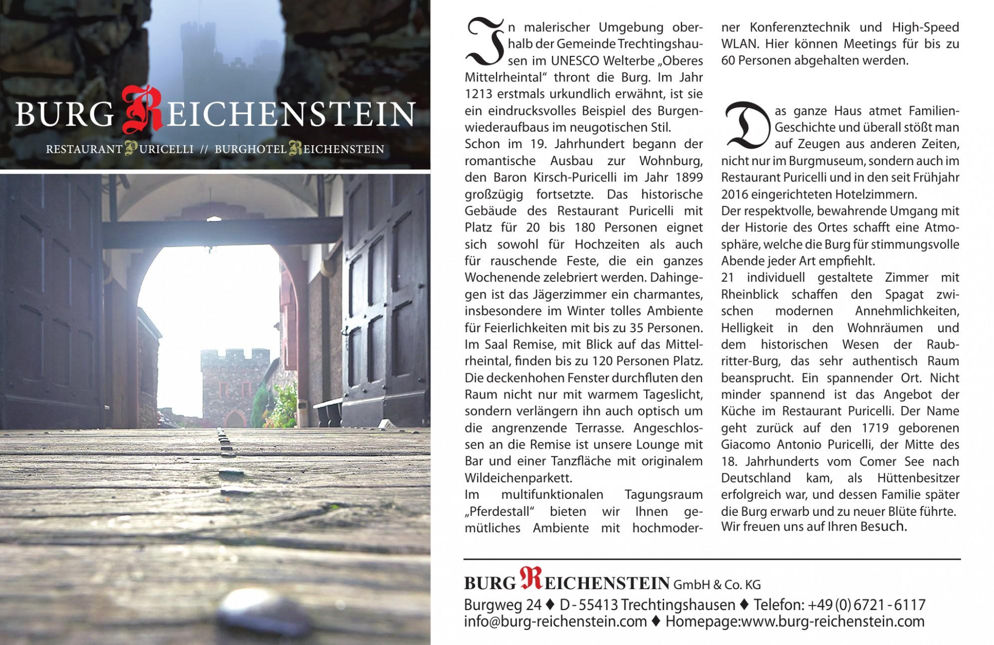 Burg Reichenstein GmbH & Co. KG