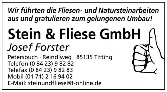 Stein & Fliese GmbH, Josef Forster