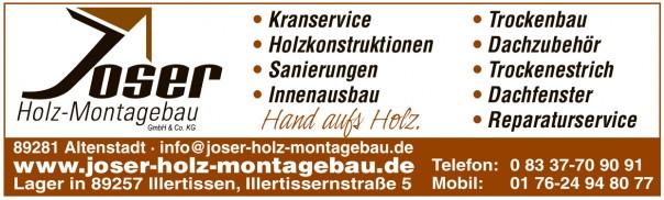 Joser Holz Montagebau