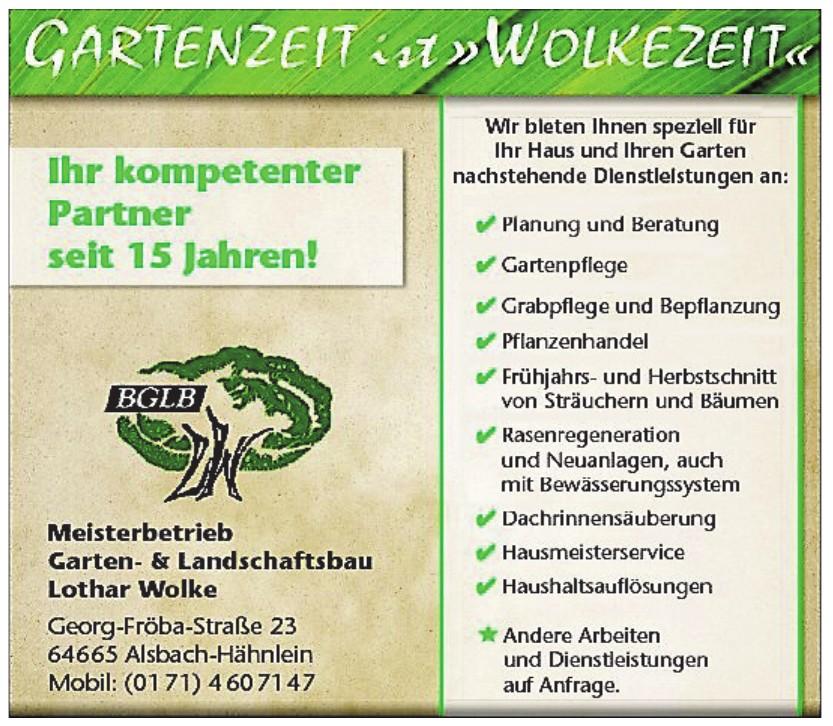 Meisterbetrieb Garten- & Landschafsbau Lothar Wolke