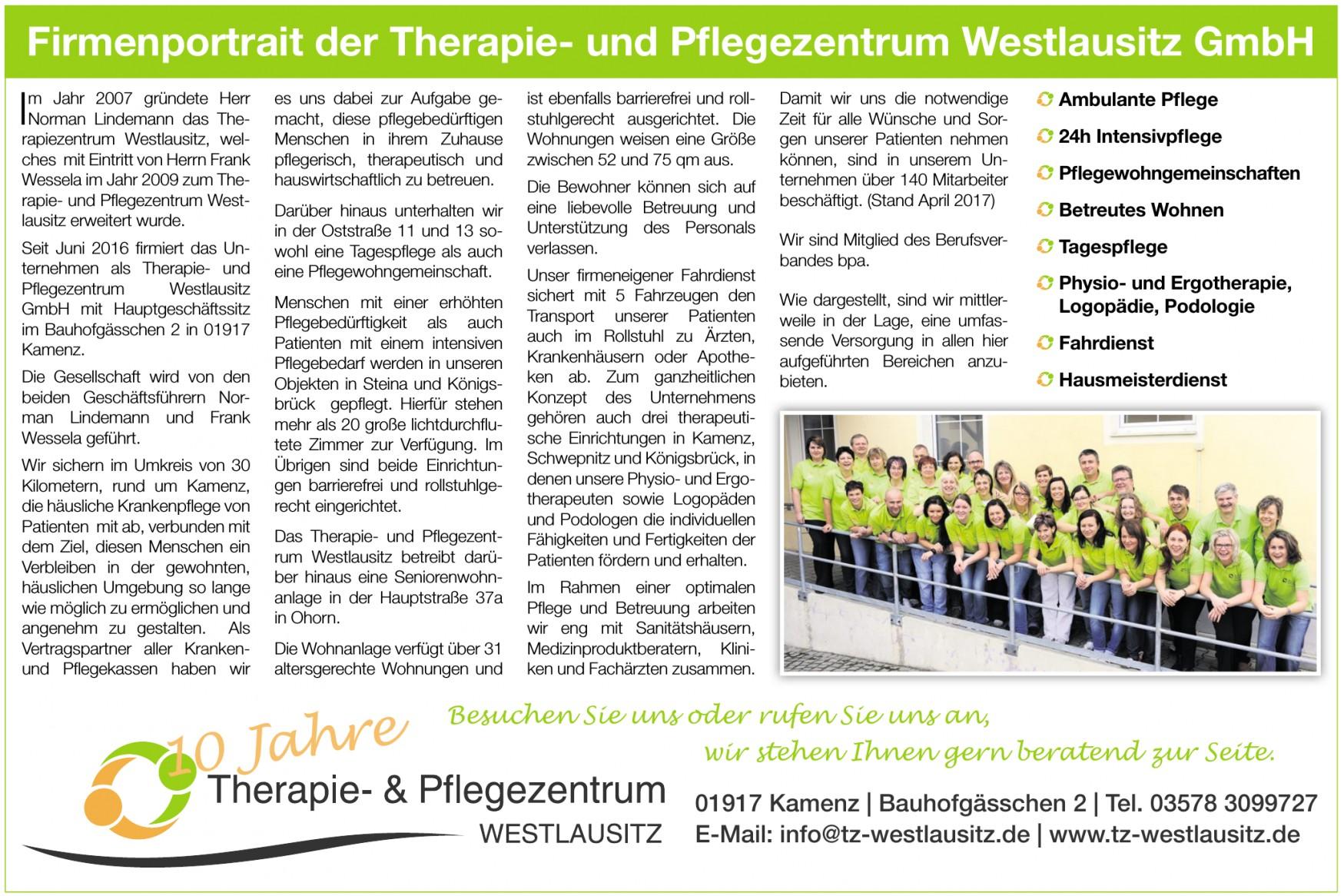 Therapie- und Pflegezentrum Westlausitz GmbH
