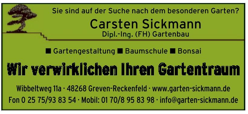 Carsten Sickmann Dipl.-Ing. (FH) Gartenbau