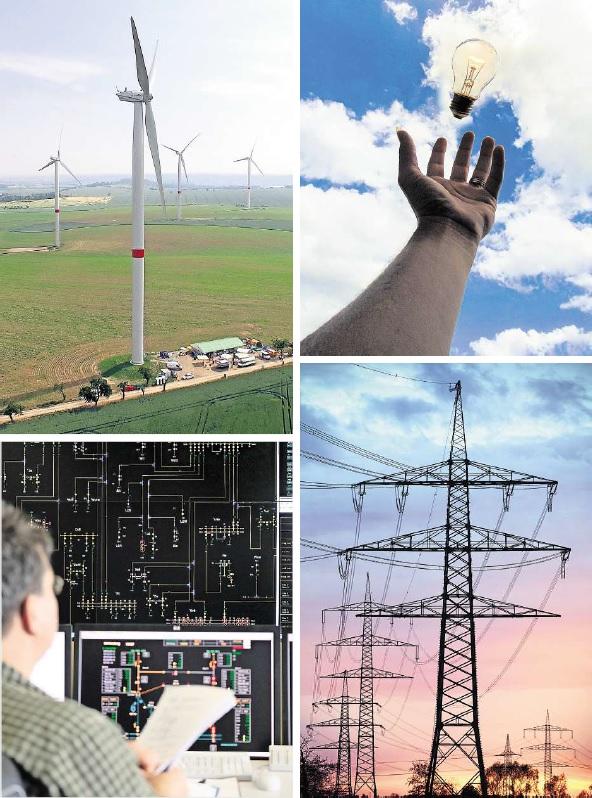 """Die Energiewende in Deutschland, weg von Atomkraft und fossilen Trägern wie Kohle hin zu """"erneuerbar"""" genannten wie Wind und Sonne, stellt Unternehmen und Stromnetz vor riesige Herausforderungen. Denn Strom soll schließlich weiter immer verfügbar sein.Fotos:VSB Holding GmbH/dpa/pixabay (2)"""
