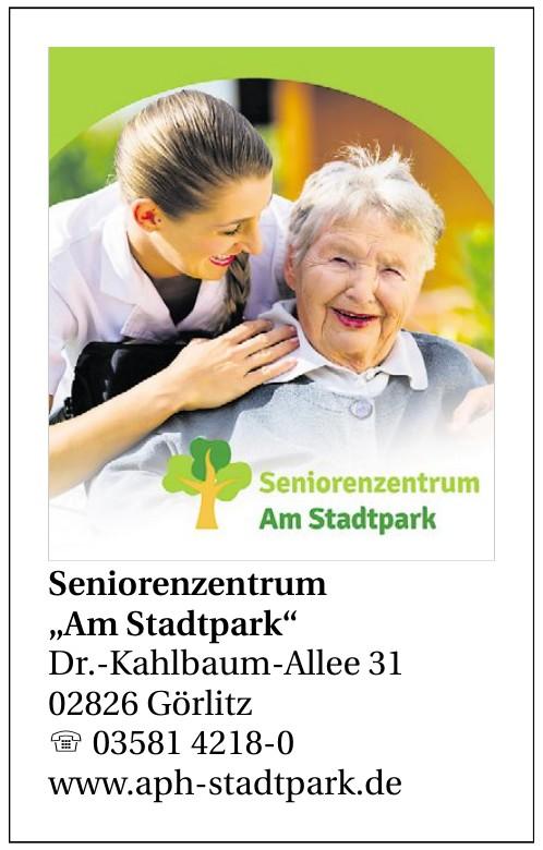 """Seniorenzentrum """"Am Stadtpark"""""""
