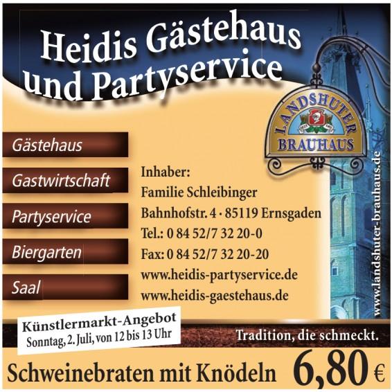 Heidis Gästehaus und Partyservice