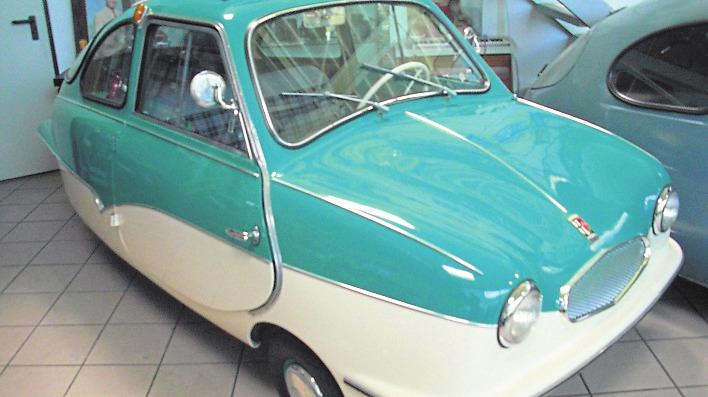 Das Fuldamobil hat eine eigenwillige Form. Foto: privat / Michael Lang