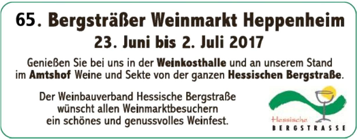 65. Bergsträßer Weinmarkt Heppenheim