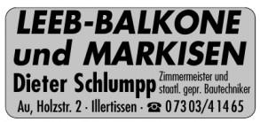 Dieter Schlumpp Balkone & Markisen