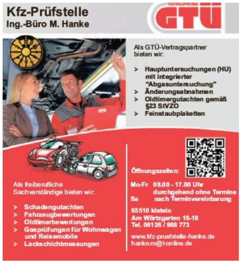 Kfz-Prüfstelle / Ing.Büro M. Hanke
