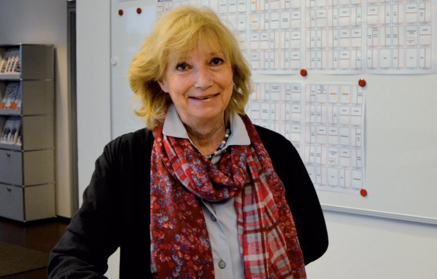 Margot Sontag zu Besuch in der KLÖNSCHNACK-Redaktion