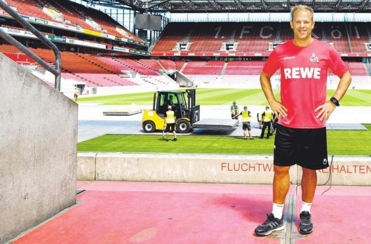 Trainer Markus Anfang hat den Aufstieg des 1. FC Köln vor Augen