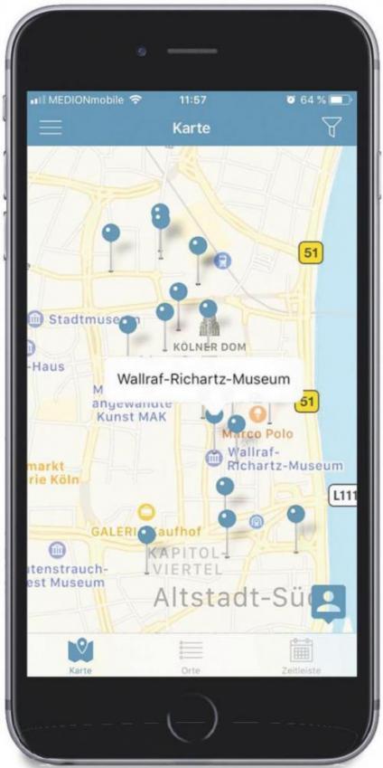 Wallraf ist präsent in der Stadt - Historiker der Universität Köln haben Infos für Internet und App aufbereitet: www.wallrafdigital.koeln