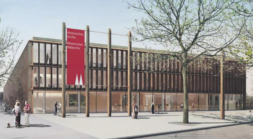 Der Bau des historischen Archivs geht in die finale Phase