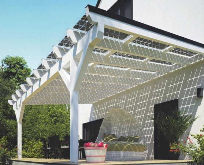 solarcarporte.de bietet mit solarbetriebenen Terrassendächer doppelten Nutzen