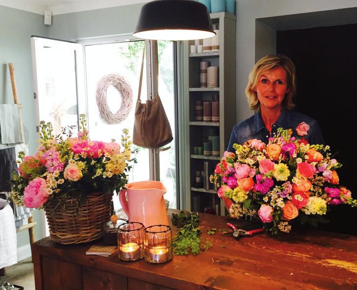 Monika Carstens bindet farben - frohe Sträuße und verkauft Hübsches für ihr Zuhause