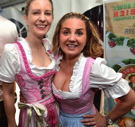 Carolina Testa und Nathalie Dunger amüsierten sich köstlich