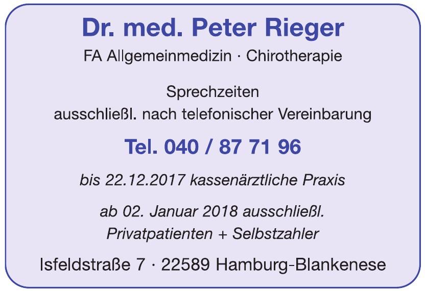 Dr. med. Peter Rieger