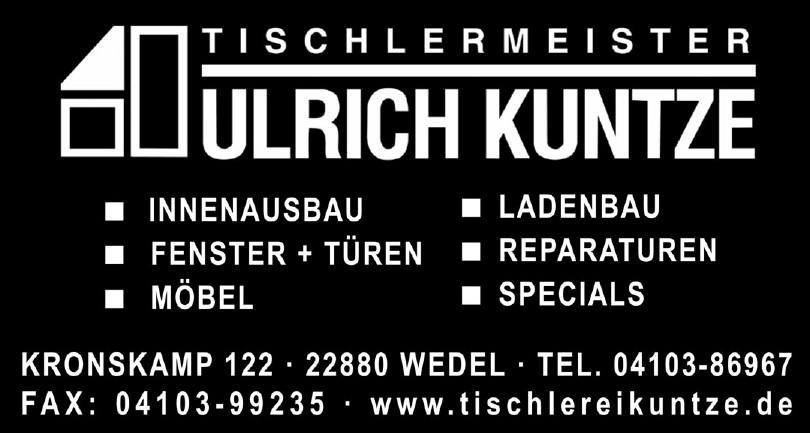 Tischlermeister Ulrich Kuntze