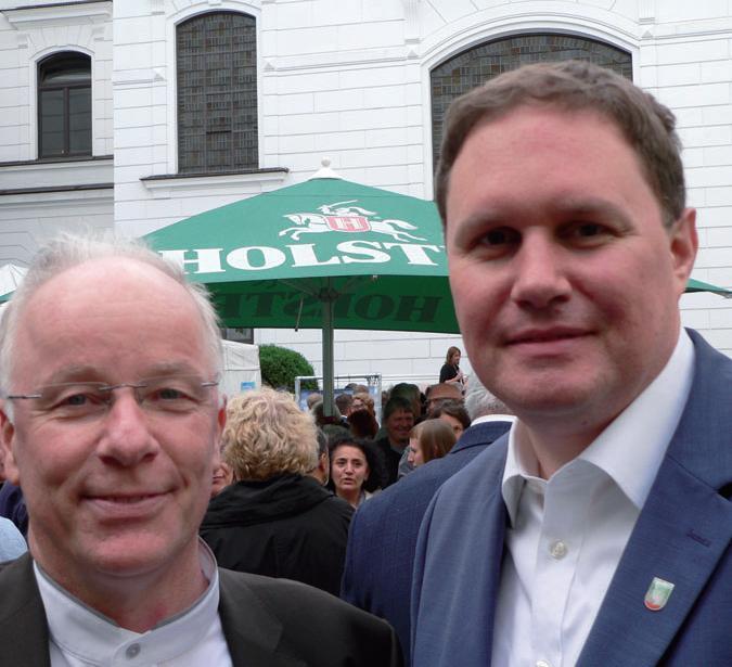 SPD-Bundestagsabgeordneter Matthias Bartke mit Kultursenator Carsten Brosda
