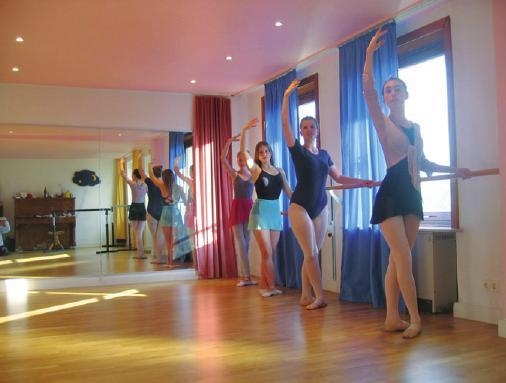 Unterricht im Ballettstudio Blankenese