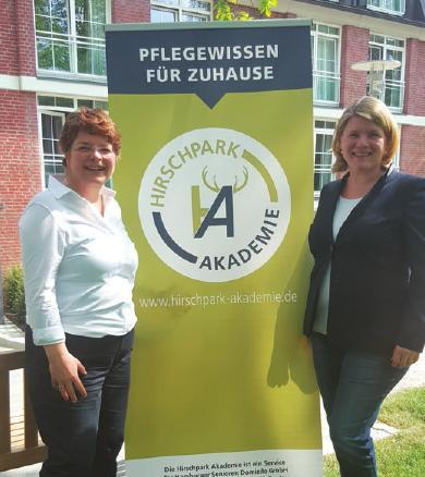 Sabine Juchheim, Koordinatorin der Hirschpark Akademie, und Petra Rabe, Direktorin des Domizils am Hirschpark
