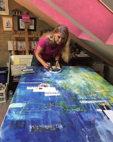 Tamara Nickel in ihrem Atelier