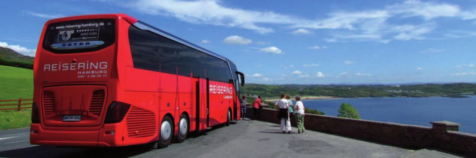 Reisen deluxe mit den neuen Top-Class-Bussen