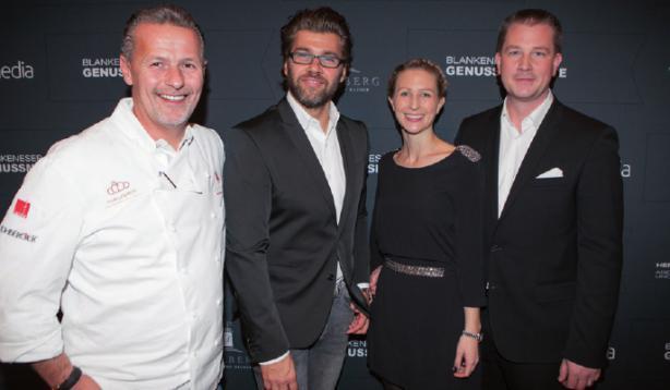 Die Gastgeber: Karlheinz Hauser, Gunnar Henke, Nathalie und Christian Dunger