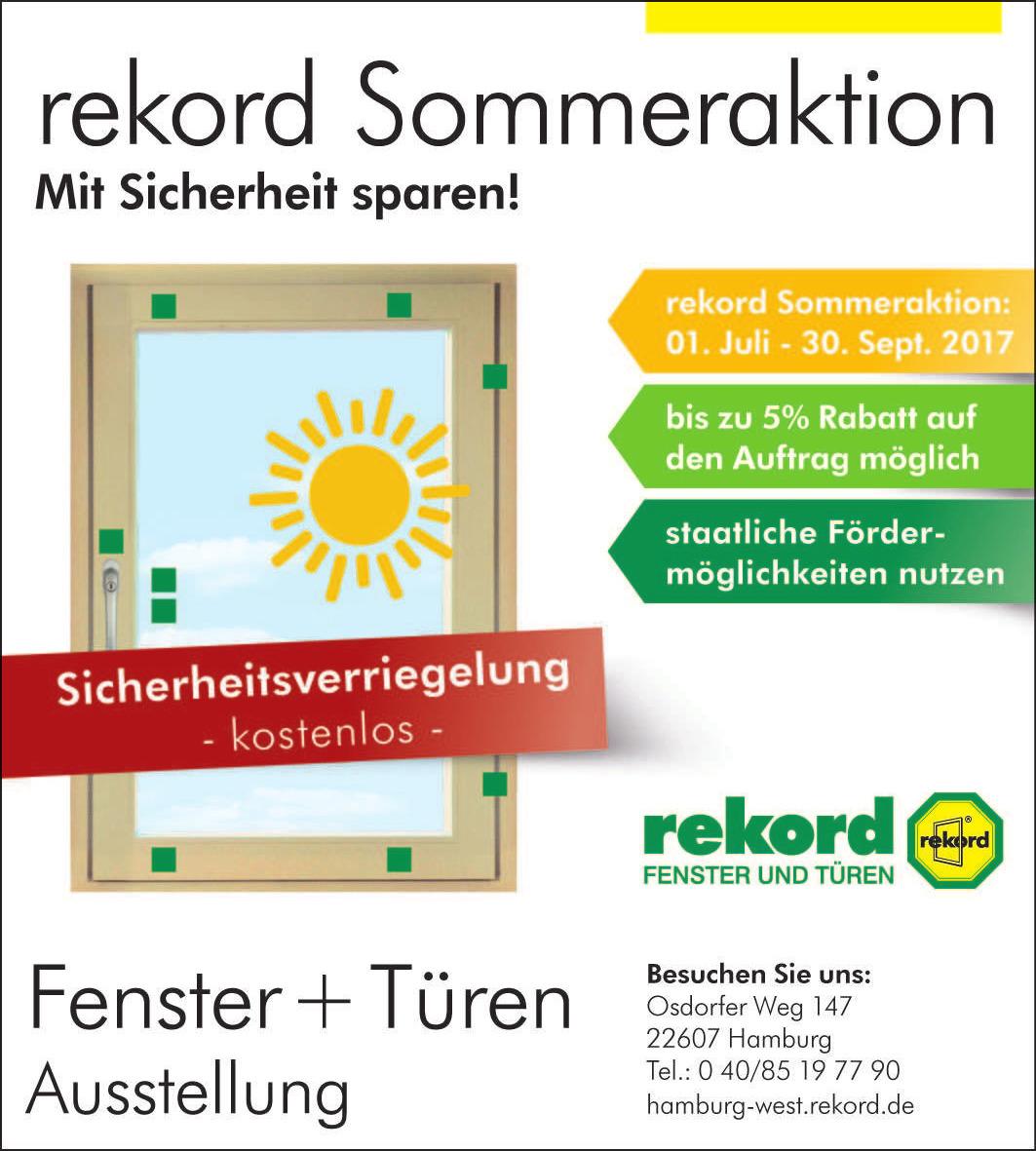 rekord Ausstellung Hamburg