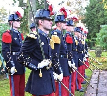 Französische Soldaten als Gäste der Führungsakademie.