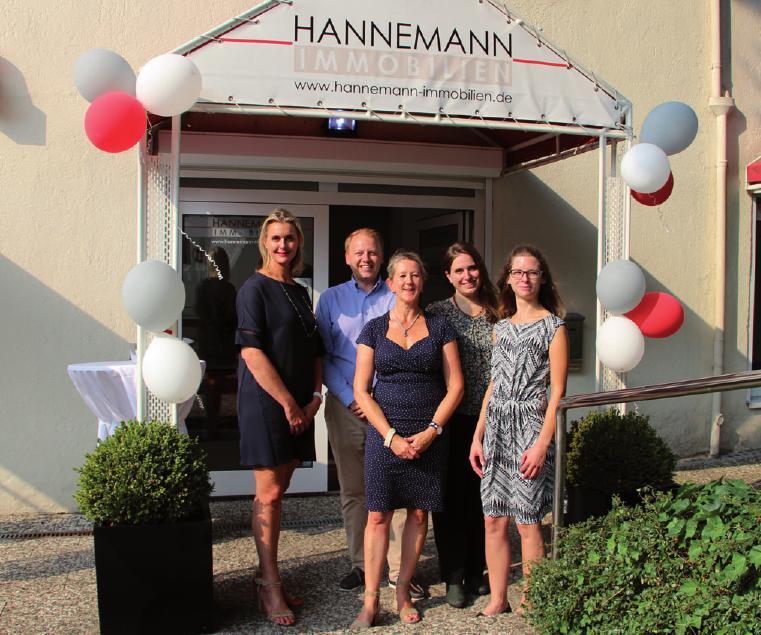 Das Team von Hannemann Immobilien feierte das Einjährige