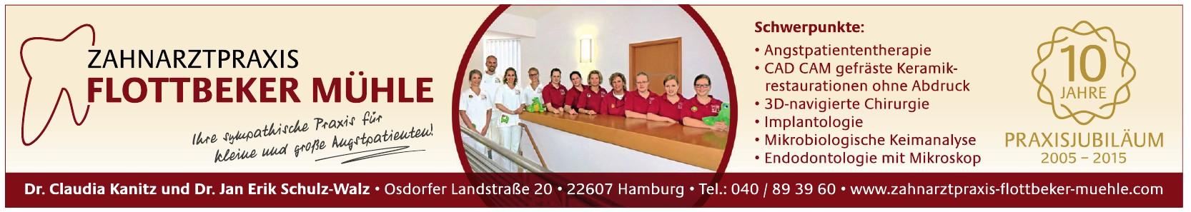 Zahnarztpraxis Flottbeker Mühle, Dr. Claudia Kanitz und Dr. Jan Erik Schulz-Walz