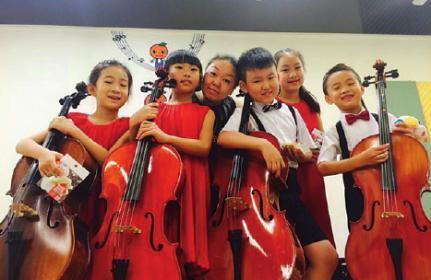 Junge Musiker aus Peking besuchen die Musikschule Karin Klose