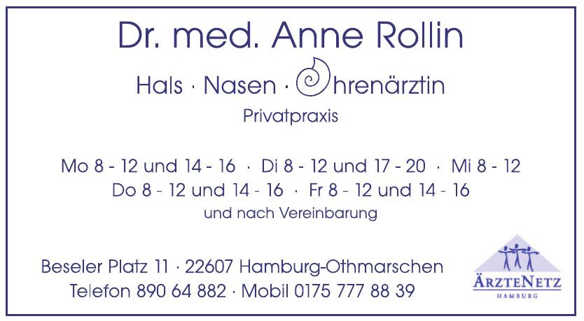 Dr. med Anne Rollin, Hals Nasen Ohrenärztin