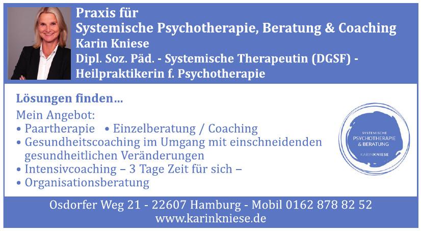 Karin Kniese, Systemische Psychotherapie & Beratung